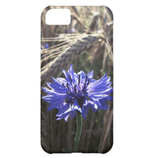 Blue Flower in Grain Case For iPhone 5C