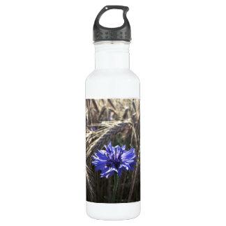 Blue Flower in Grain Water Bottle