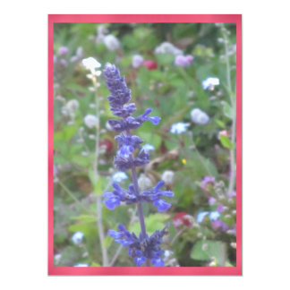 "Blue Flower 6.5"" X 8.75"" Invitation Card"