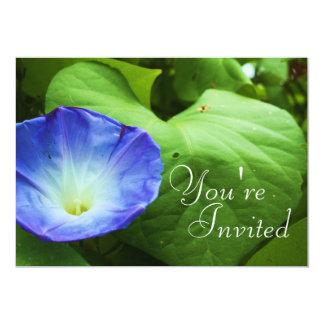 Blue Flower Invitation