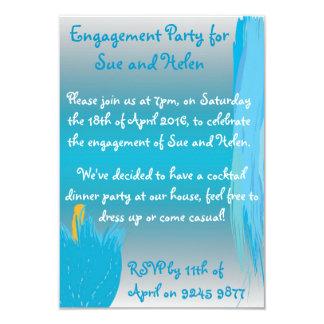 Blue Flower Invite