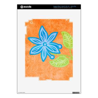 Blue Flower iPad 3 Decal