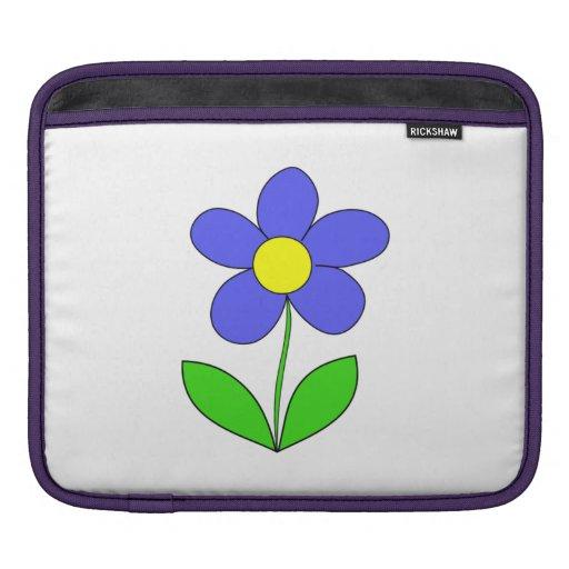 Blue Flower iPad Sleeve