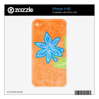 Blue Flower iPhone 4S Decal