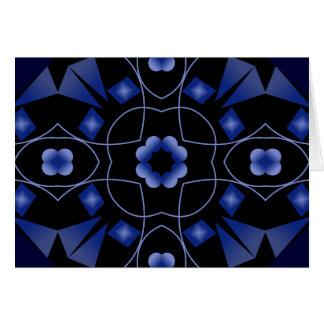 Blue Flower Kaleidoscope Art Custom Card Template
