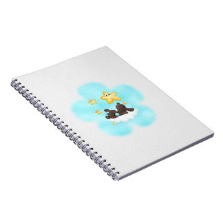 Blue Flower Kodiak Bear Journal Notebook