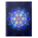 Blue Flower Mandala Fractal Note Book