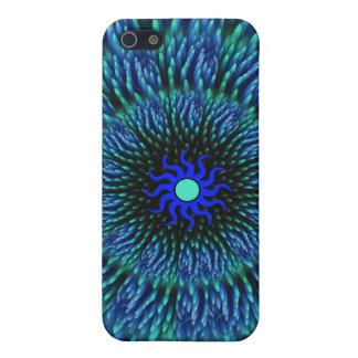 Blue Flower Mandala iPhone 4 Case