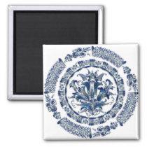 Blue Flower Mandala Magnet