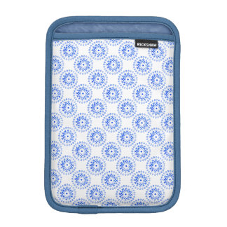 Blue Flower Mandalas Round Motif Design 1 + add iPad Mini Sleeve