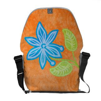 Blue Flower Messenger Bag