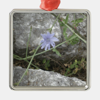 Blue Flower Metal Ornament
