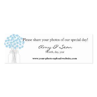Blue flower mini card mini business card