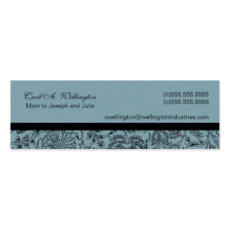 Blue Flower Mommy Cards Double-Sided Mini Business Cards (Pack Of 20)