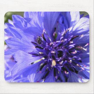 Blue Flower Mouse Pad