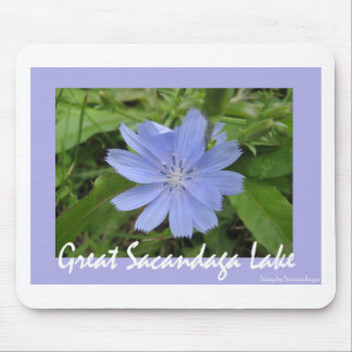 Blue Flower Mouse Pads