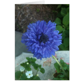 Blue flower notecard