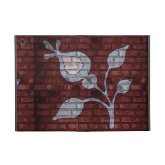 Blue Flower on Brick Wall Ipad Powis Case