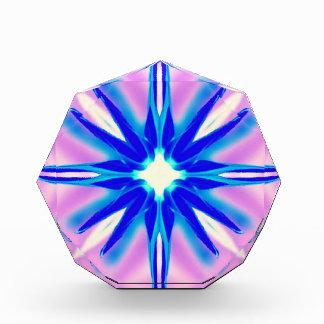blue flower on pink award