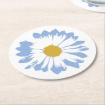 "Blue Flower on White Coaster<br><div class=""desc"">Blue Flower on White Coaster</div>"