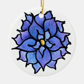Blue Flower Ornament