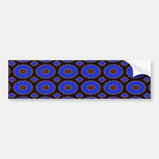 blue flower pattern car bumper sticker