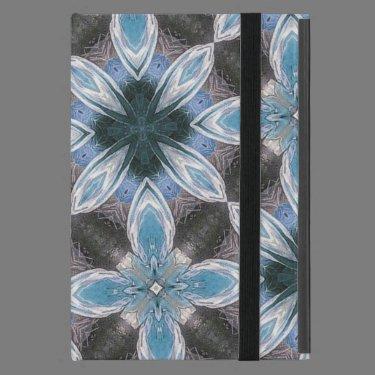 Blue Flower Pattern Case For iPad Mini