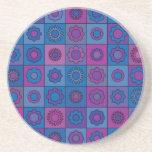 Blue Flower Pattern Coasters