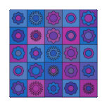 Blue Flower Pattern Gallery Wrapped Canvas