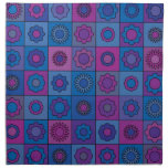 Blue Flower Pattern Printed Napkin