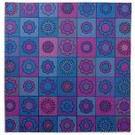 Blue Flower Pattern Printed Napkin