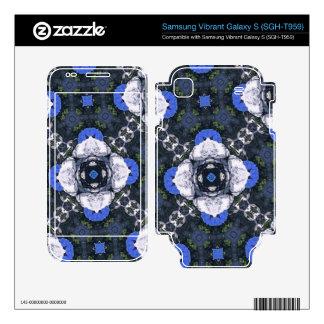 Blue Flower Pattern Samsung Vibrant Decal