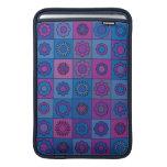 Blue Flower Pattern Sleeves For MacBook Air
