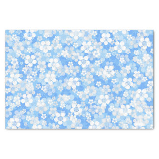 Blue Flower Pattern Tissue Paper