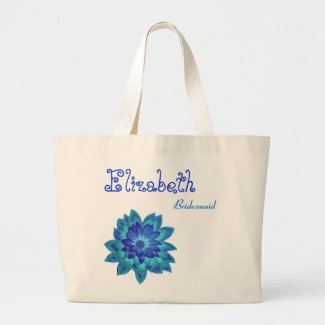 Blue Flower Personalized Bridesmaid bag