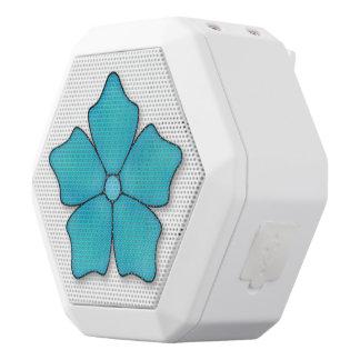 Blue Flower Petals White Bluetooth Speaker