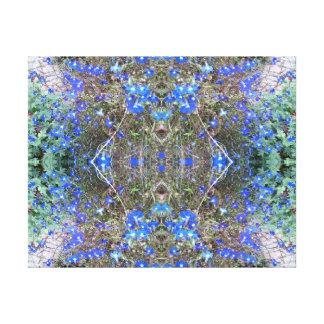 Blue Flower Photo Fractal Heart 4 Canvas Print