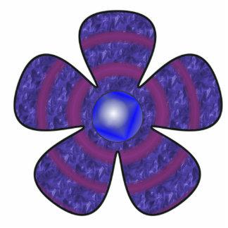 blue flower cut out