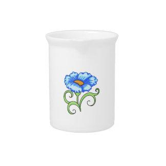 BLUE FLOWER DRINK PITCHER
