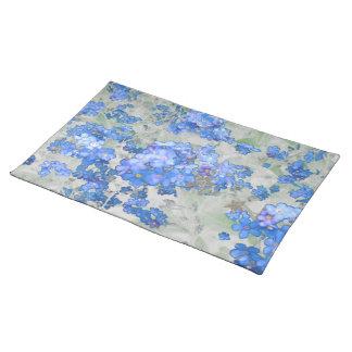 Blue Flower Place Mat Cloth Placemat
