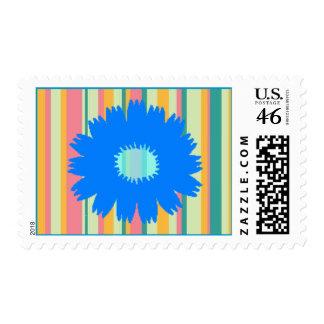 Blue Flower Postage Stamp
