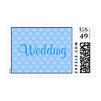 Blue Flower Postage Stamps