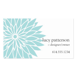 Blue Flower Power Chic Stylish Business Cards