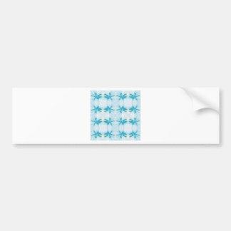 Blue Flower Power Pattern Bumper Sticker