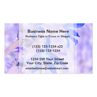 blue flower purple back invert business cards