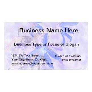 blue flower purple back invert business card template