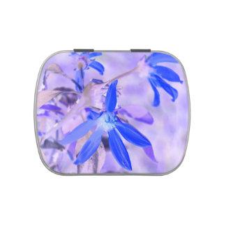 blue flower purple back invert jelly belly tin