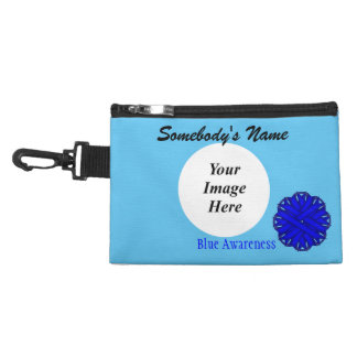 Blue Flower Ribbon Accessory Bag