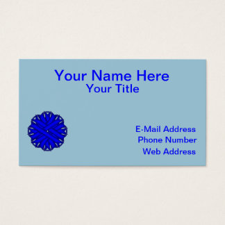 Blue Flower Ribbon Business Card