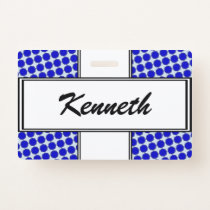 Blue Flower Ribbon by Kenneth Yoncich Badge